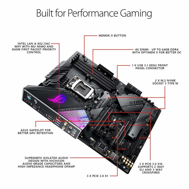 Asus Rog Strix Z390 E Gaming Motherboard Intel Lga1151 Socket