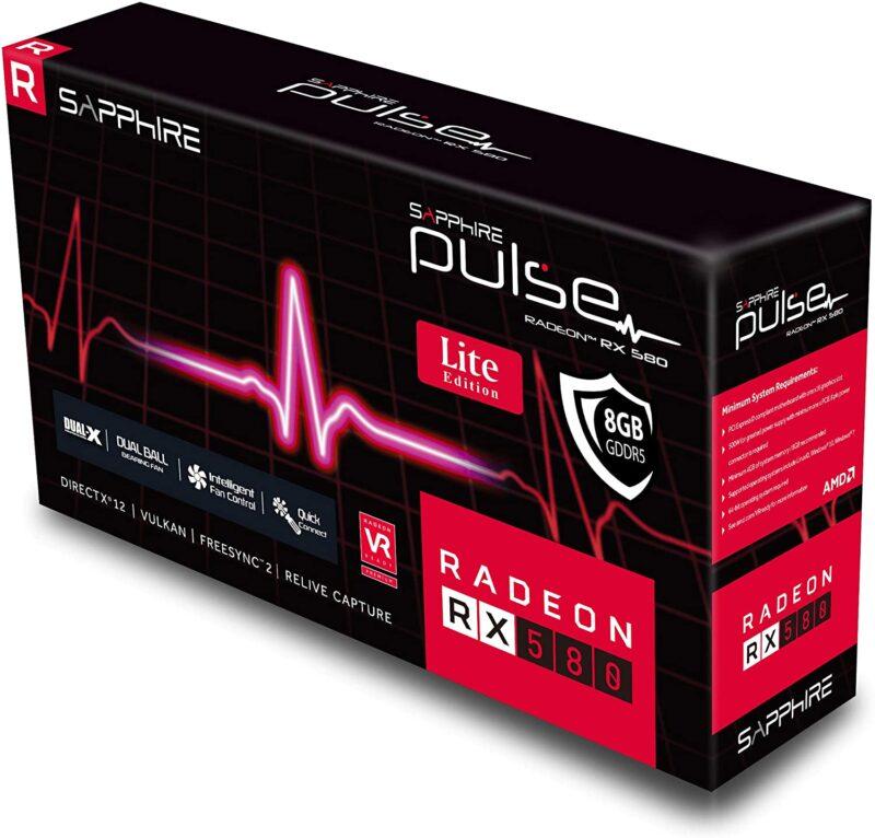 Sapphire 11265 67 20g Radeon Pulse Rx 580 8gb Gddr5 Dual Hdmi Dual Dp Oc W Backplate Uefi Pci E Graphics Card Shweta Computers